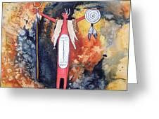 Fire And Brimstone Greeting Card by Karen Casciani