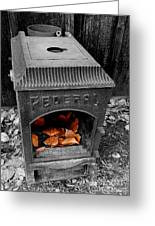 Fire Box Greeting Card by Steven Milner