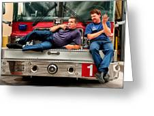 Fire Engine One Greeting Card by Vincent Cascio