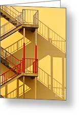 Fire Escape And Shadow Greeting Card by David Buffington