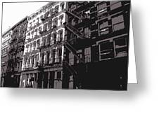 Fire Escapes BW3 Greeting Card by Scott Kelley