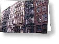 Fire Escapes Color 16 Greeting Card by Scott Kelley