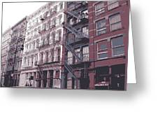 Fire Escapes Color 6 Greeting Card by Scott Kelley
