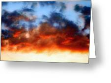 Fire In The Sky Greeting Card by Andee Design