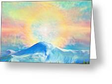 Fire Rainbow Over Alberta Peak Wolf Creek Colorado Greeting Card by Anastasia  Ealy
