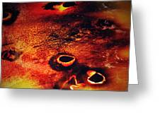 Fire Wall Greeting Card by Jerry Cordeiro