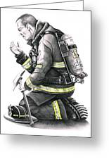 Firefighter Greeting Card by Murphy Elliott