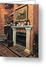 Fireplace Greeting Card by Benjamin Matthijs