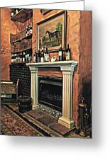 Fireplace Greeting Card by Benjamin Matthijs
