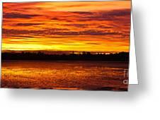Firery Sunset Sky Greeting Card by John Buxton