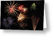 Fireworks Greeting Card by Jeff Kolker
