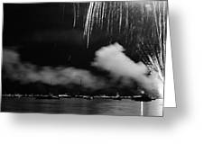 Fireworks Tahoe Ca Greeting Card by Isak Hanold
