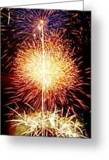 Fireworks_1591 Greeting Card by Michael Peychich