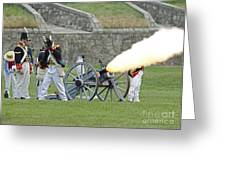 Firing Cannon Greeting Card by JT Lewis