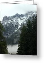 First Day In Glacier Greeting Card by Amanda Kiplinger