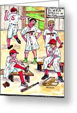 First Uniforms Greeting Card by Philip Bracco