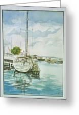 Fish Creek Harbor Greeting Card by Laurel Fredericks