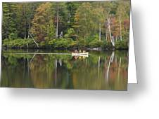 Fish Creek Pond In Adirondack Park - New York Greeting Card by Brendan Reals