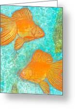 Fish For Free Greeting Card by Micki  Moss