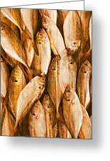 Fish Pattern On Wood Greeting Card by Setsiri Silapasuwanchai
