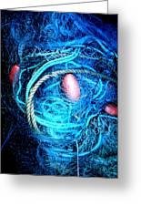 Fish Robe Net   Greeting Card by Colette V Hera  Guggenheim