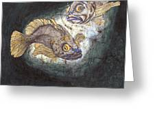 Fish Tales Greeting Card by Shari Carlson