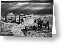 Fishing Boat Graveyard 4 Greeting Card by Meirion Matthias