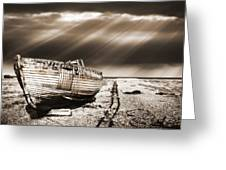 Fishing Boat Graveyard 9 Greeting Card by Meirion Matthias