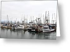 Fishing Boats In Pillar Point Harbor At Half Moon Bay California . 7d8196 Greeting Card by Wingsdomain Art and Photography