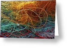 Fishing Nets Greeting Card by Carlos Caetano