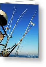 Fishing Rods Greeting Card by Sami Sarkis