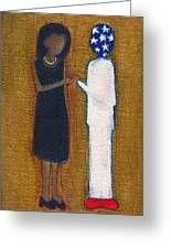Fist Pumping First Lady He Seeing Stars Greeting Card by Ricky Sencion