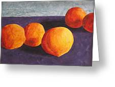 Five Peaches Greeting Card by Dina Day
