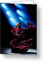 Flamenco Performance Greeting Card by Richard Young