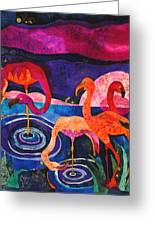 Flamingos Greeting Card by Sandra Kern