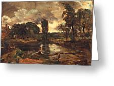Flatford Mill From The Lock Greeting Card by John Constable