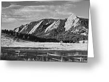 Flatirons From Chautauqua Park Bw Greeting Card by James BO  Insogna