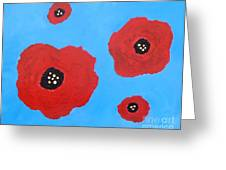 Floating Flowers Greeting Card by Alys Caviness-Gober