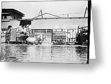 Flooding On The Mississippi River, 1909 Greeting Card by Library of Congress