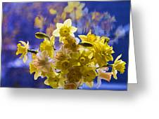 Floral Reflections Greeting Card by Jo-Anne Gazo-McKim