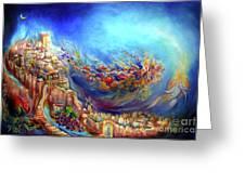 Floraura De Shabbat Greeting Card by Mordechai Edel