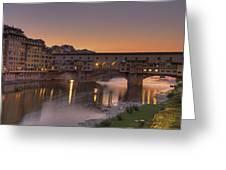 Florence - Ponte Vecchio Greeting Card by Joana Kruse