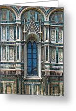 Florence Italy - Duomo Stained Glass Greeting Card by Gregory Dyer