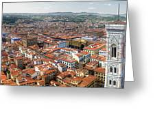Florence Italy - Panorama -02 Greeting Card by Gregory Dyer