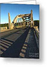 Florence Oregon - Art Deco Bridge Greeting Card by Gregory Dyer