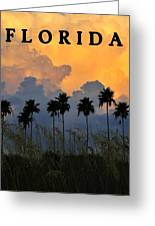 Florida Poster Greeting Card by David Lee Thompson