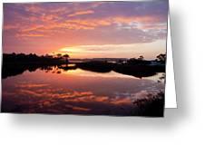 Florida Sunrise Greeting Card by Charles Warren