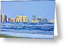 Florida Turbulence Greeting Card by Deborah Benoit
