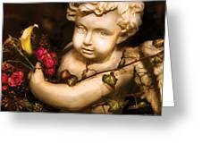 Flower - Rose - The Cherub  Greeting Card by Mike Savad