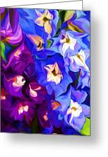Flower Arrangement 012812 Greeting Card by David Lane